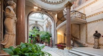 Le jardin d\'hiver et l\'escalier | Musée Jacquemart-André : une ...
